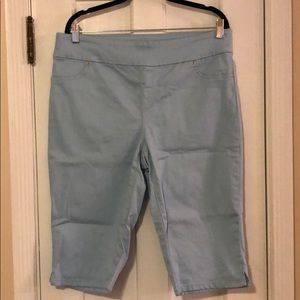 Chico's Perfect Stretch blue pants Size 2 Like NEW